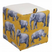 Taburet Box - Print - Safari rinoceri