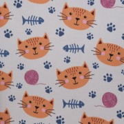 Stofa Print - Pisici portocalii