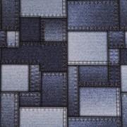 Stofa Print - Denim dreptunghiuri
