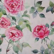 Stofa Print - Trandafiri acuarela