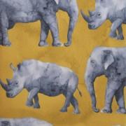 Stofa Print - Safari rinoceri