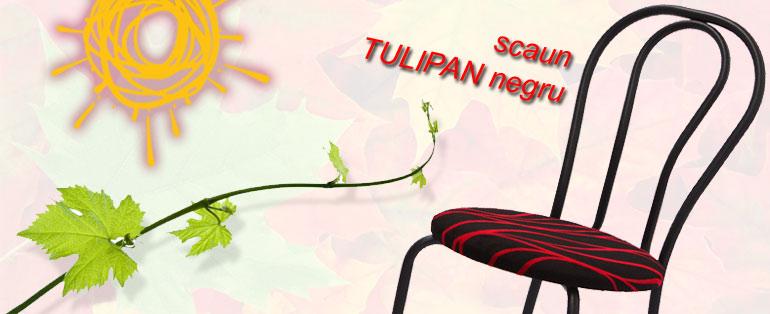 scaun Tulipan negru