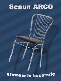 scaun Arco cromat