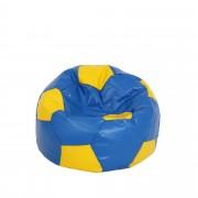 Bean bag Baby Ball - imitatie piele - albastru/diverse culori