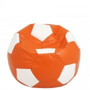 Bean bag Baby Ball - imitatie piele - portocaliu/diverse culori