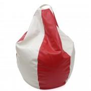 Bean bag Mara imitatie piele - rosu/diverse culori