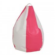 Bean bag Mara imitatie piele - roz/diverse culori