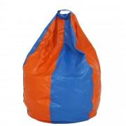 Bean bag Mara imitatie piele - portocaliu/diverse culori