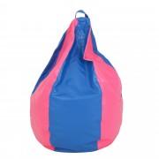 Bean bag Mara imitatie piele - albastru/diverse culori