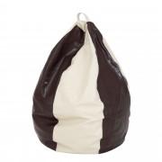 Bean bag Mara imitatie piele - maro/diverse culori
