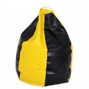 Bean bag Mara imitatie piele - galben/diverse culori
