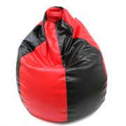 Bean bag Mara imitatie piele - negru/diverse culori
